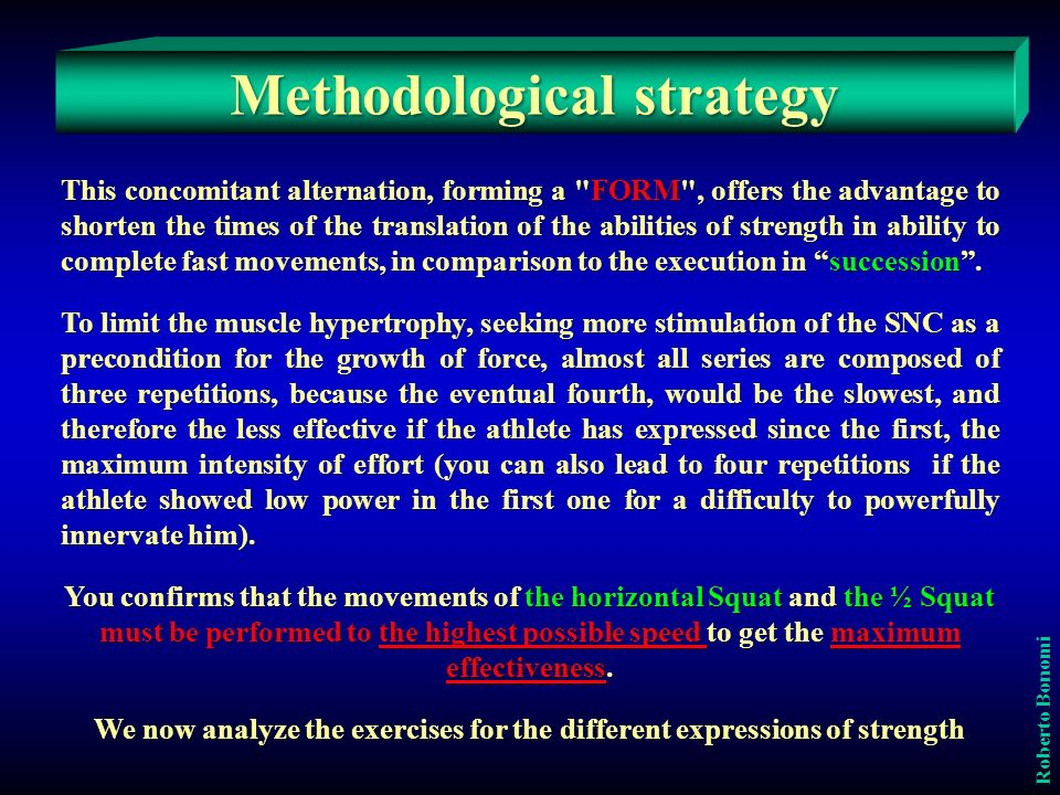 Methodological strategy