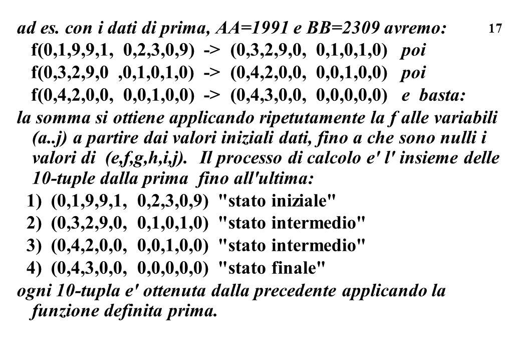 ad es. con i dati di prima, AA=1991 e BB=2309 avremo: