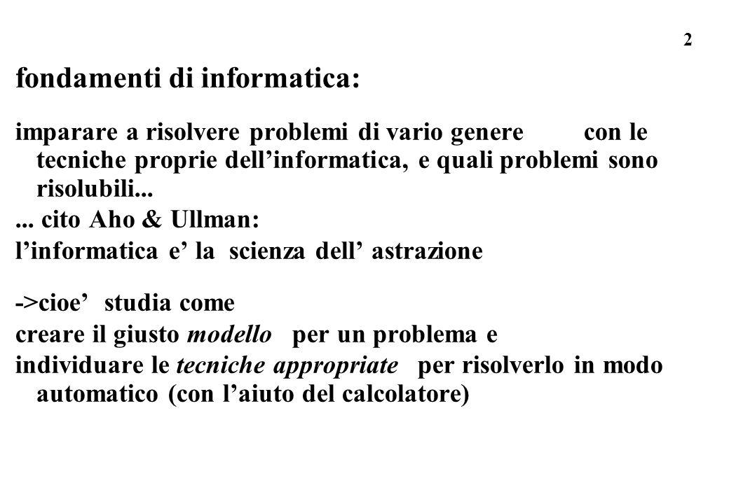 fondamenti di informatica: