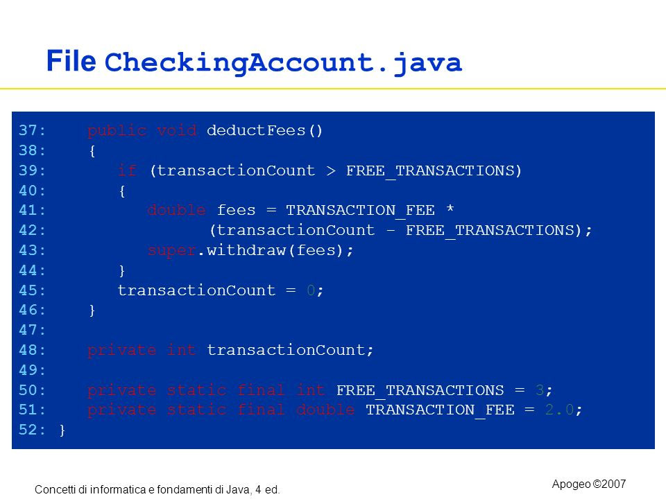 File CheckingAccount.java