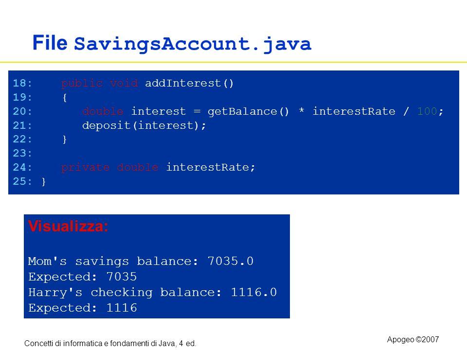 File SavingsAccount.java