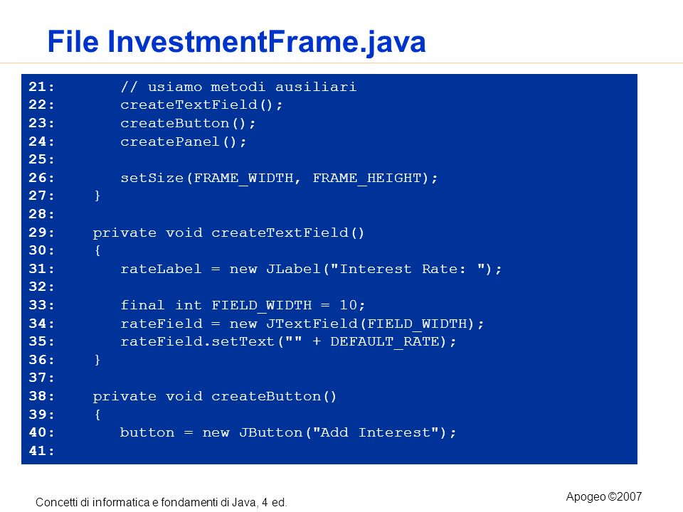 File InvestmentFrame.java
