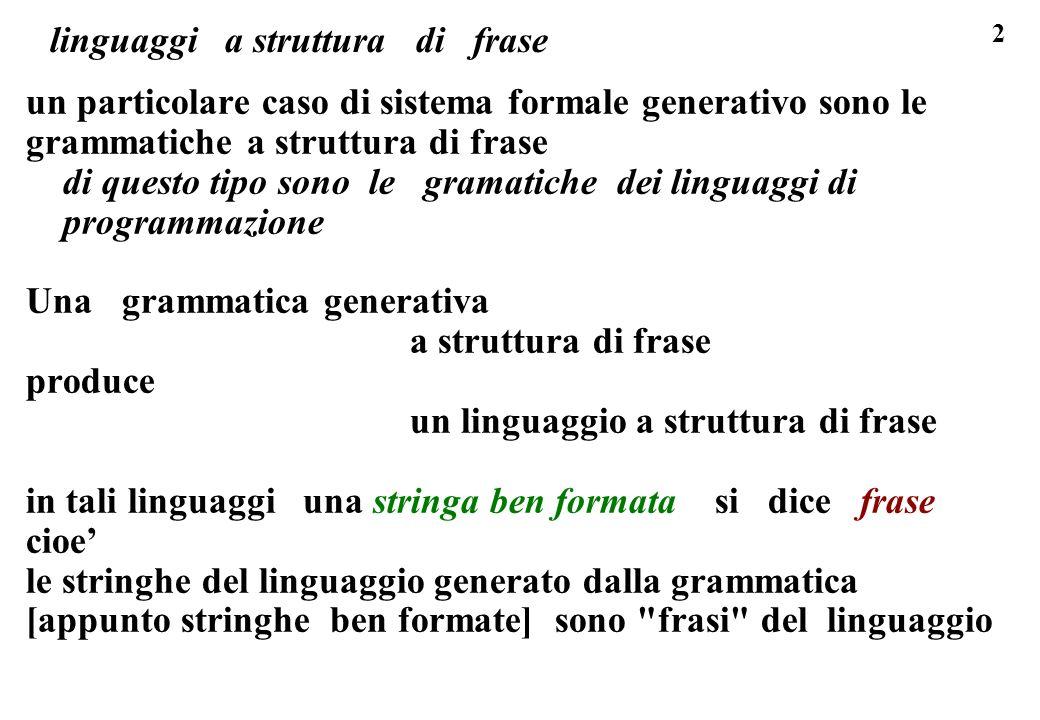 linguaggi a struttura di frase