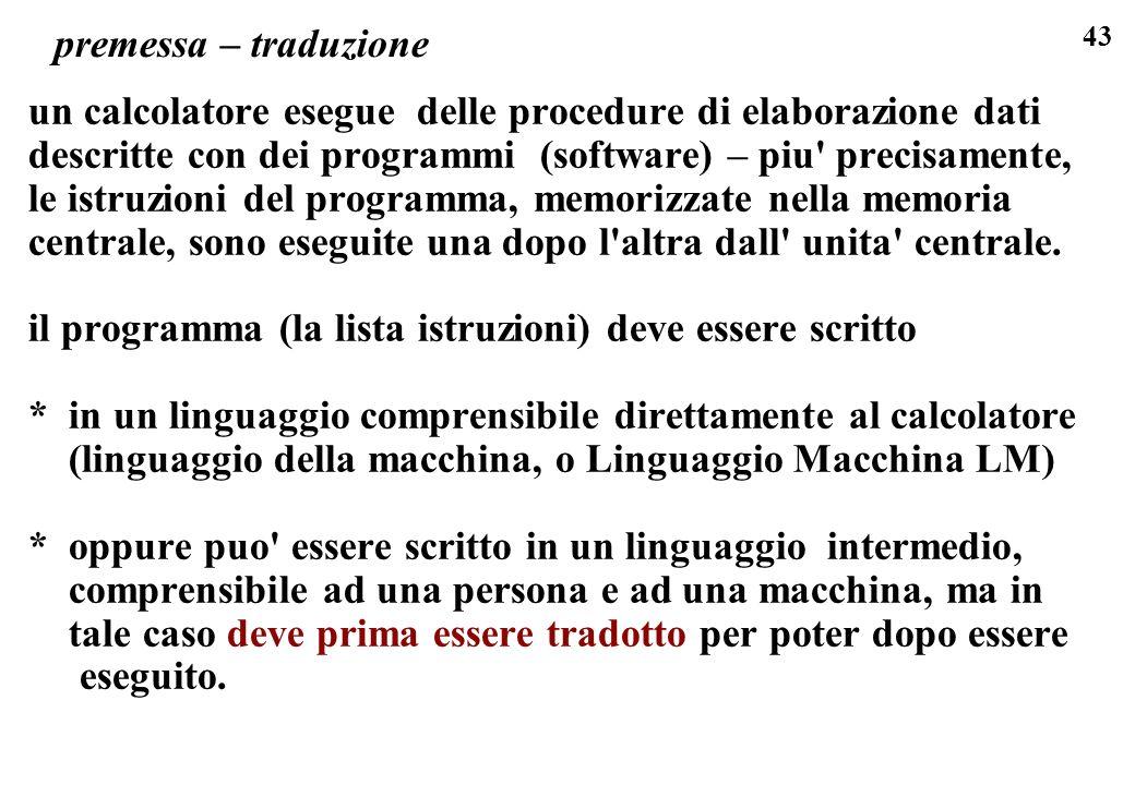 i linguaggi di programmazione sono un caso particolare dei