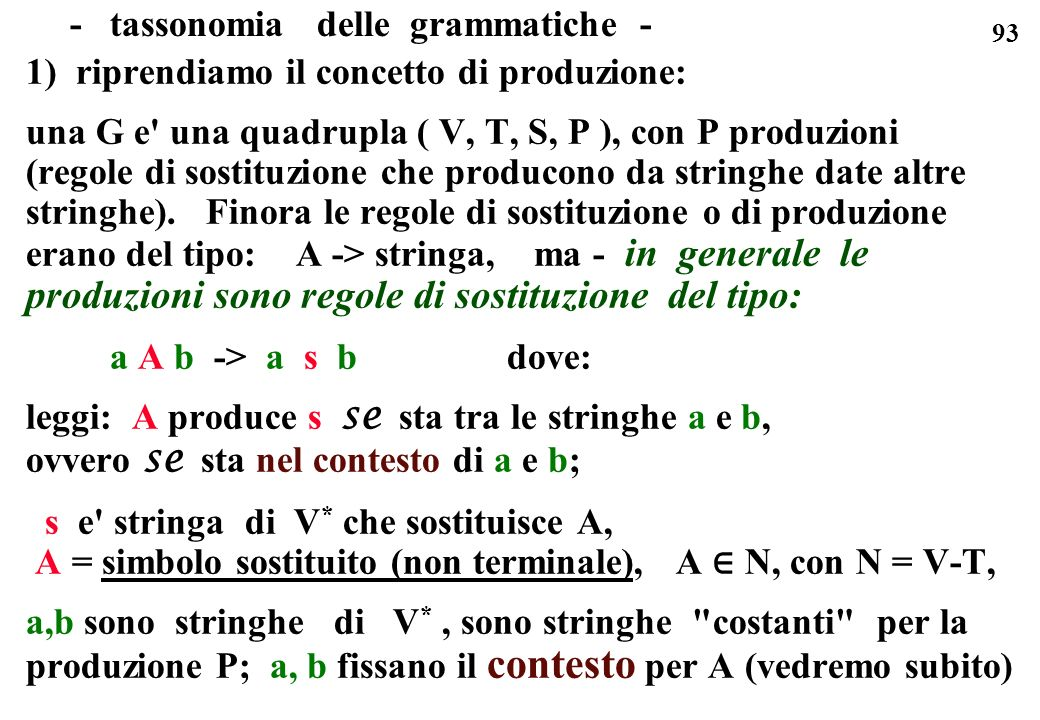 - tassonomia delle grammatiche -