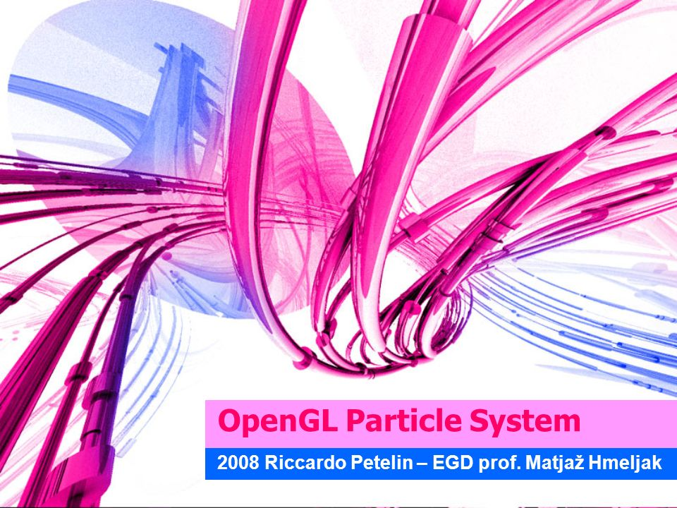 OpenGL Particle System