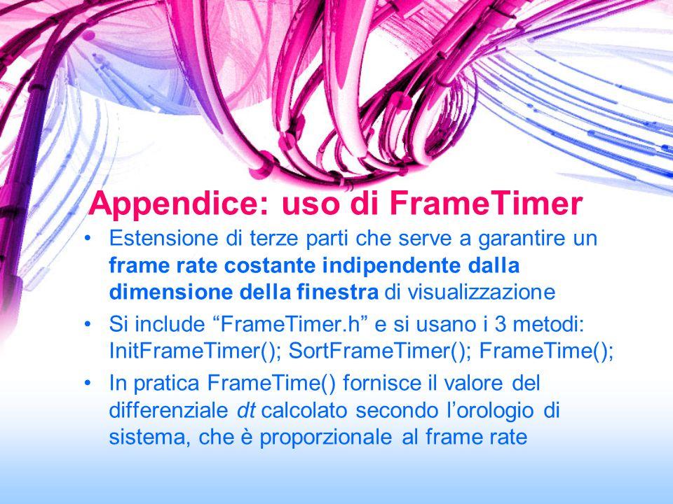 Appendice: uso di FrameTimer