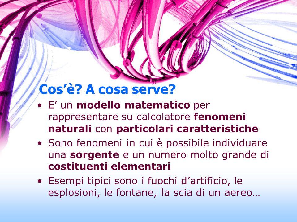 Cos'è A cosa serve E' un modello matematico per rappresentare su calcolatore fenomeni naturali con particolari caratteristiche.