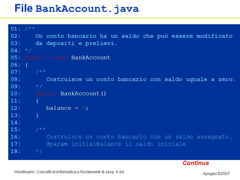 File BankAccount.java 01: /**