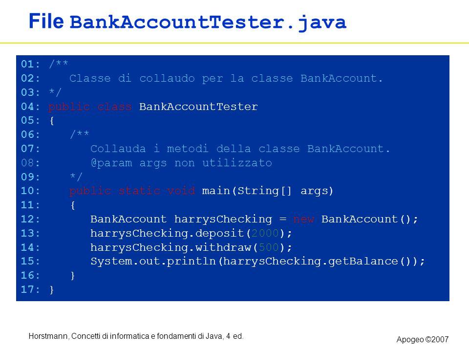 File BankAccountTester.java