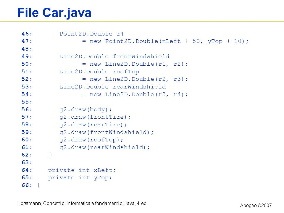 File Car.java 46: Point2D.Double r4