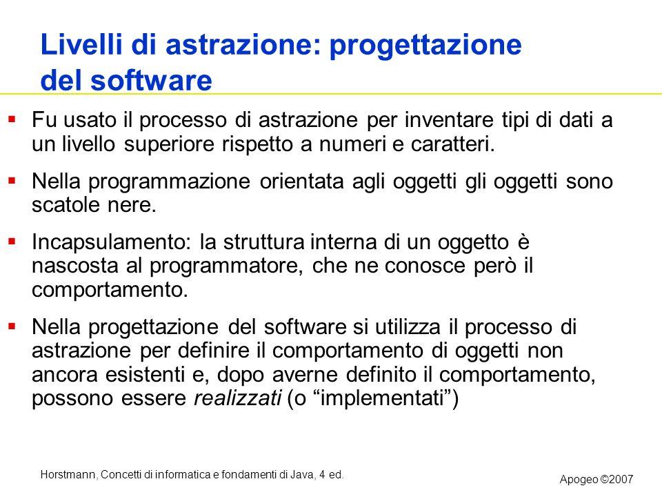 Livelli di astrazione: progettazione del software