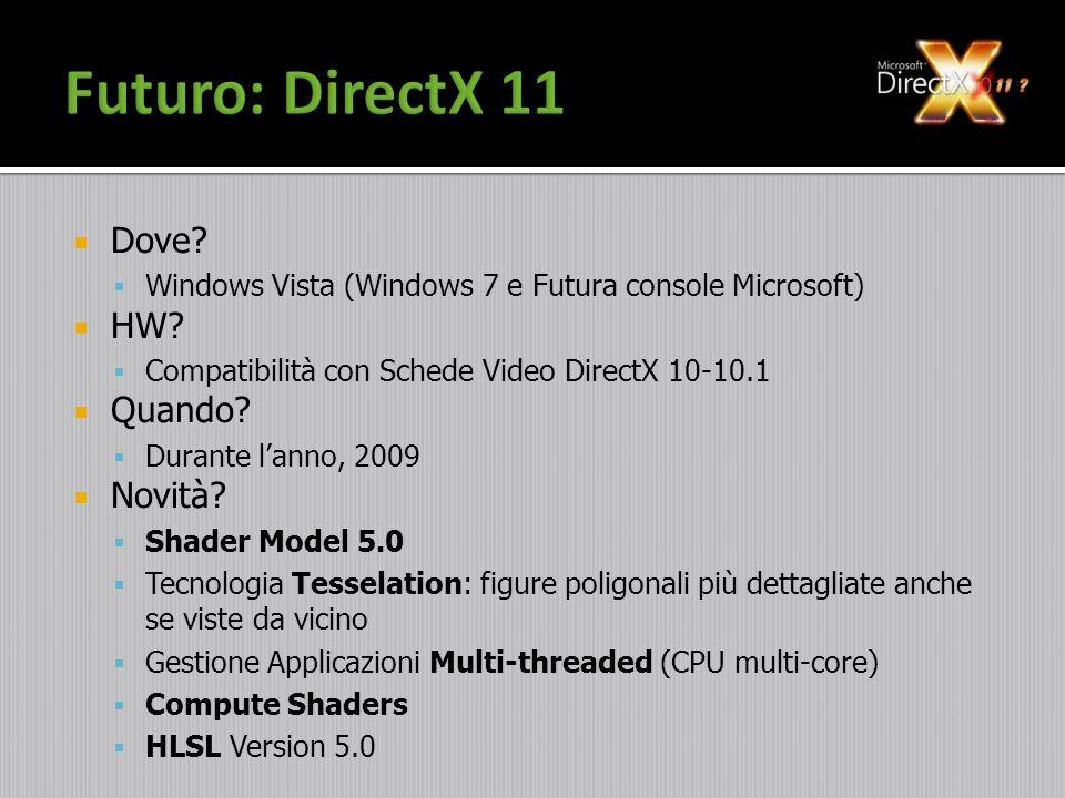 Futuro: DirectX 11 Dove HW Quando Novità
