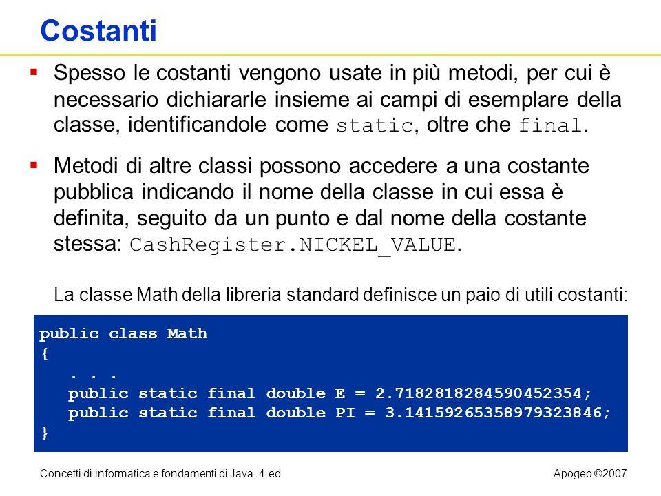 Costanti static final
