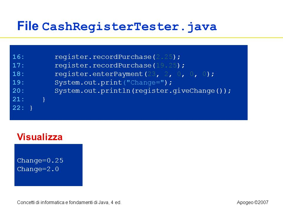 File CashRegisterTester.java