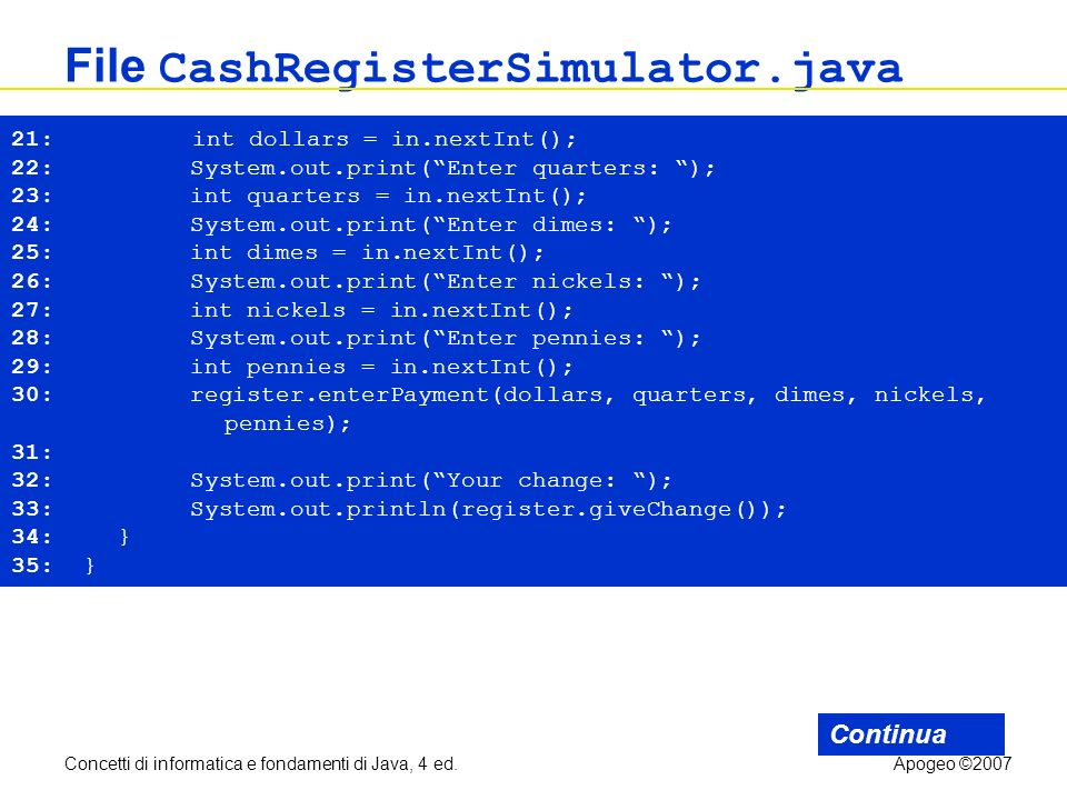 File CashRegisterSimulator.java
