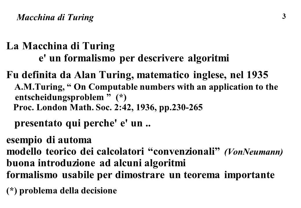 e un formalismo per descrivere algoritmi