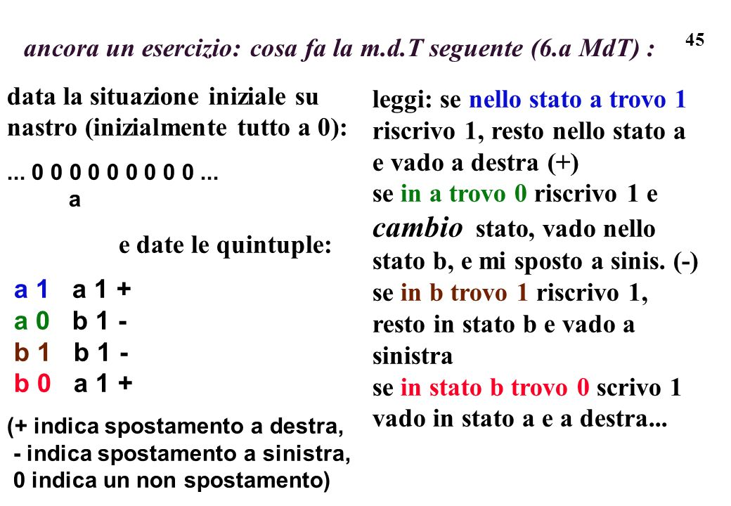 ancora un esercizio: cosa fa la m.d.T seguente (6.a MdT) :