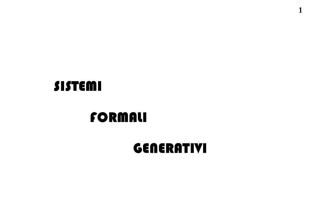 SISTEMI FORMALI GENERATIVI