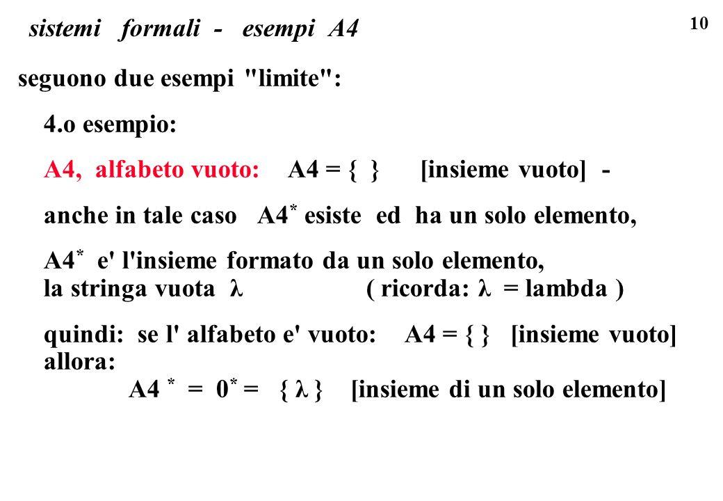 sistemi formali - esempi A4