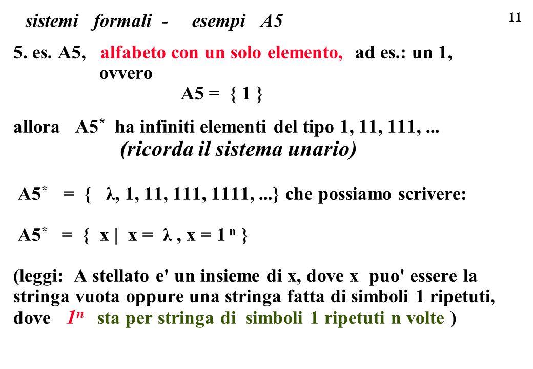 sistemi formali - esempi A5