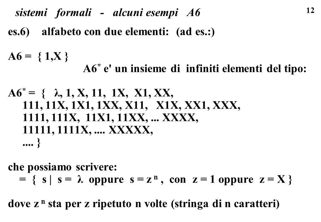 sistemi formali - alcuni esempi A6