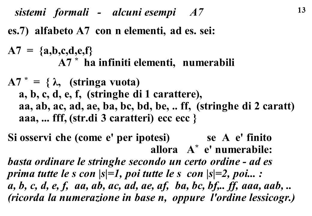 sistemi formali - alcuni esempi A7
