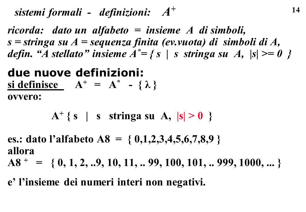 sistemi formali - definizioni: A+