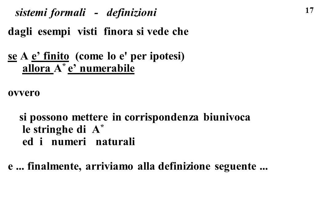 sistemi formali - definizioni