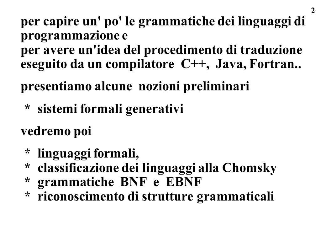 per capire un po le grammatiche dei linguaggi di programmazione e