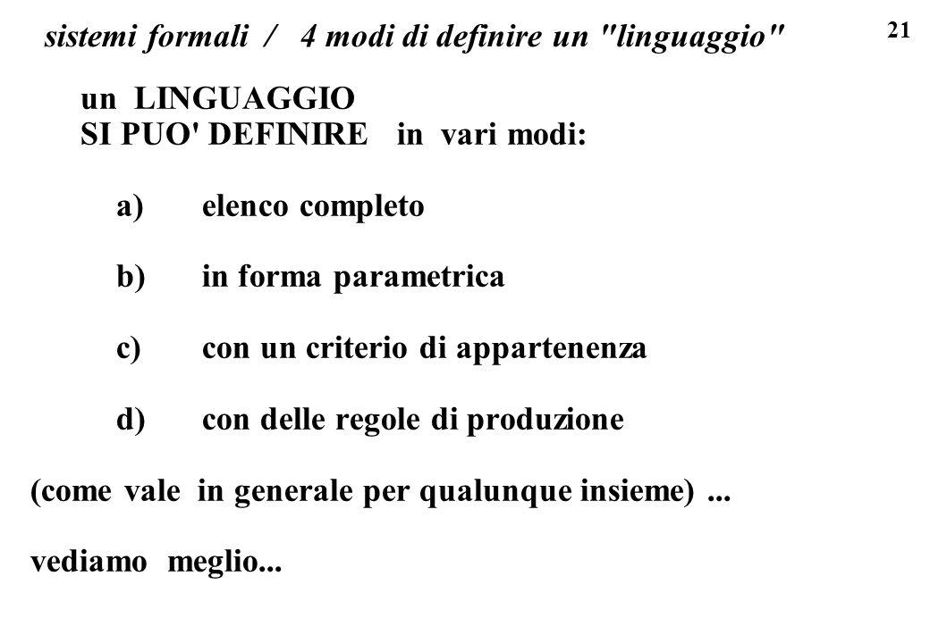 sistemi formali / 4 modi di definire un linguaggio
