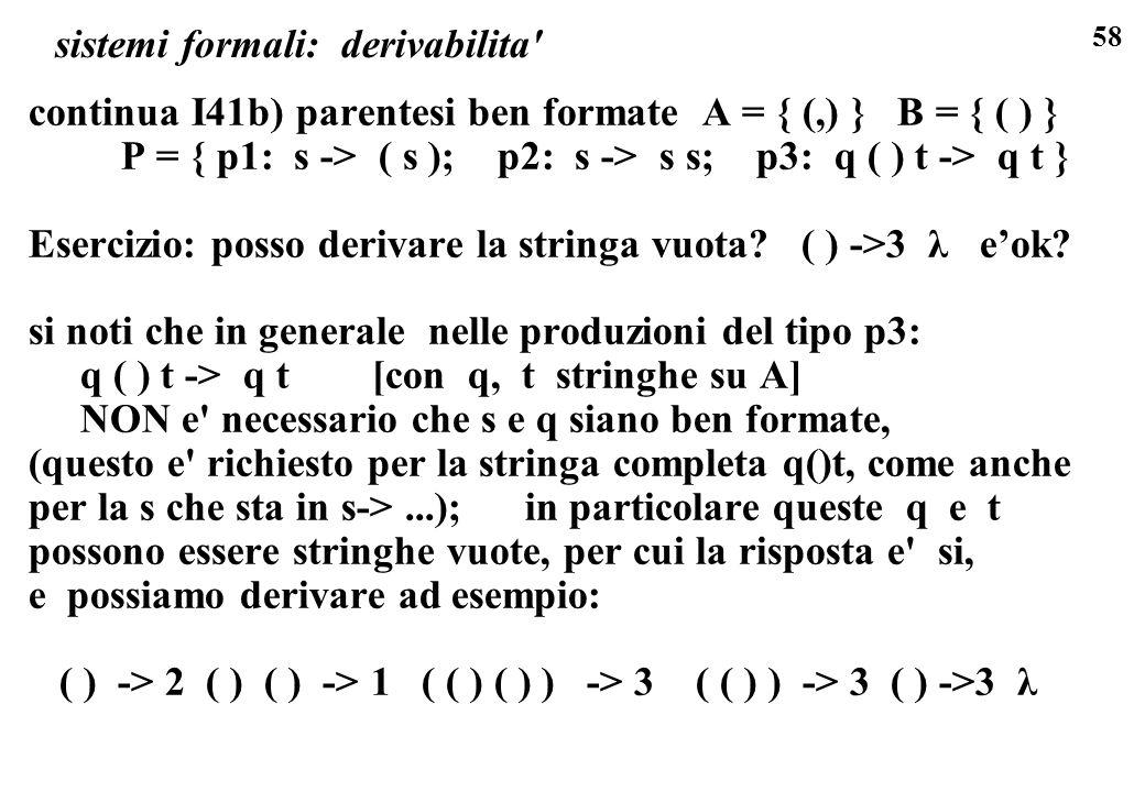 sistemi formali: derivabilita