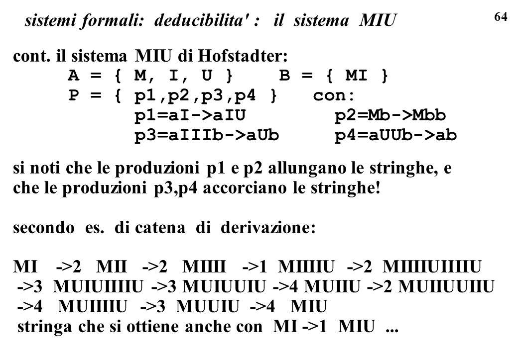 sistemi formali: deducibilita : il sistema MIU