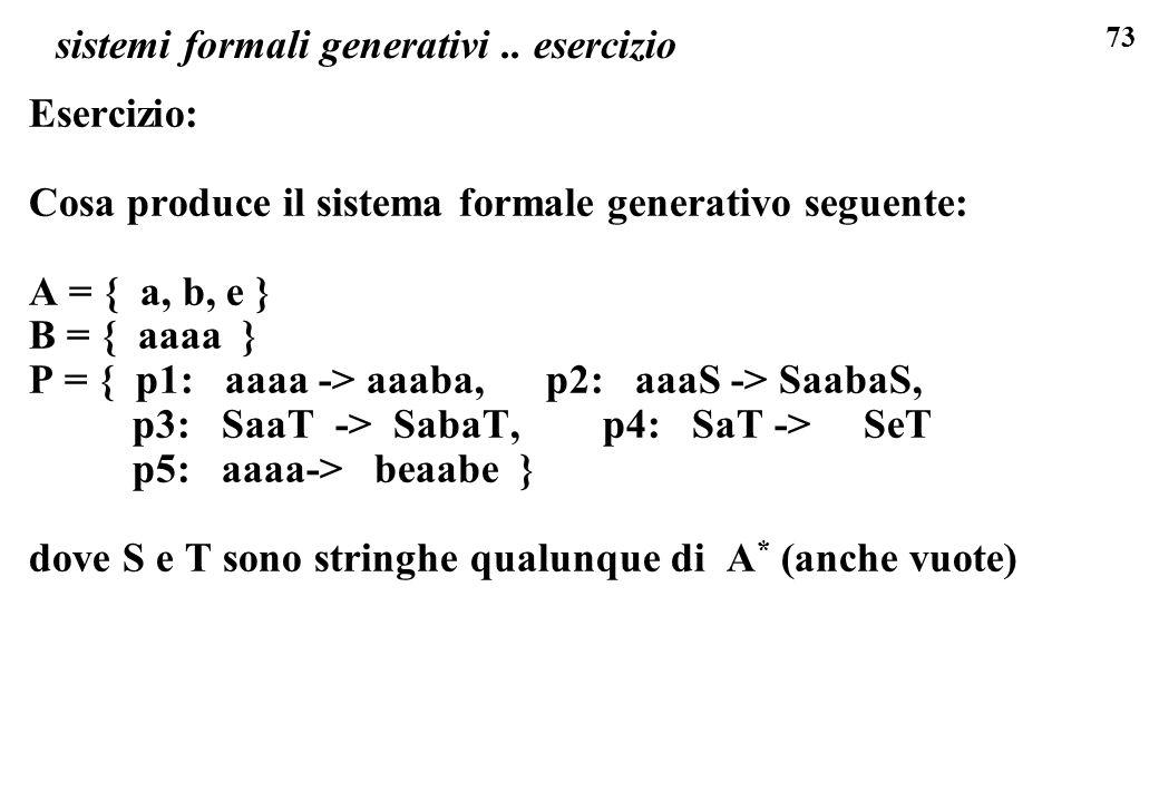 sistemi formali generativi .. esercizio