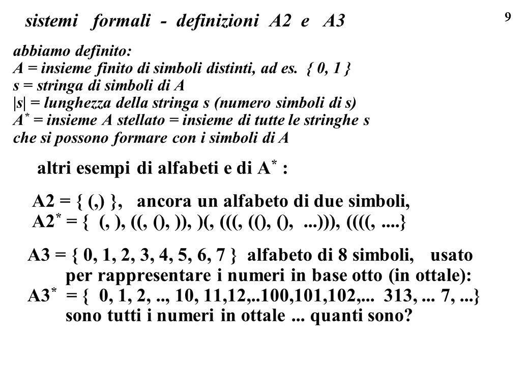 sistemi formali - definizioni A2 e A3