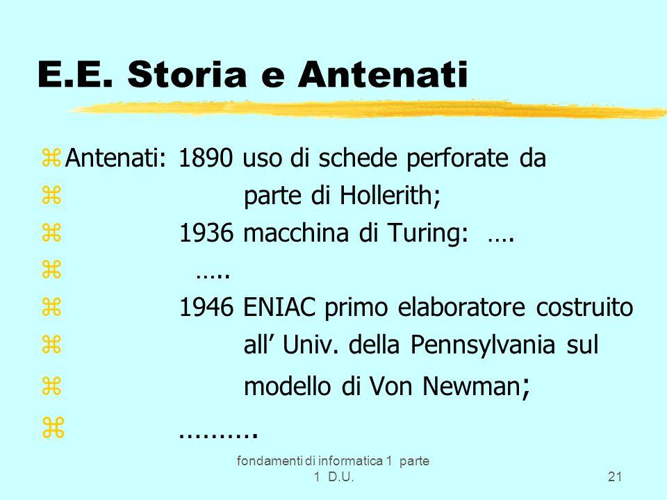 fondamenti di informatica 1 parte 1 D.U.