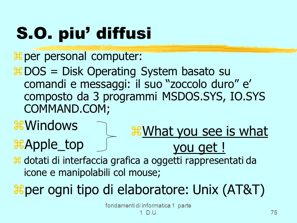 S.O. piu' diffusi Windows Apple_top