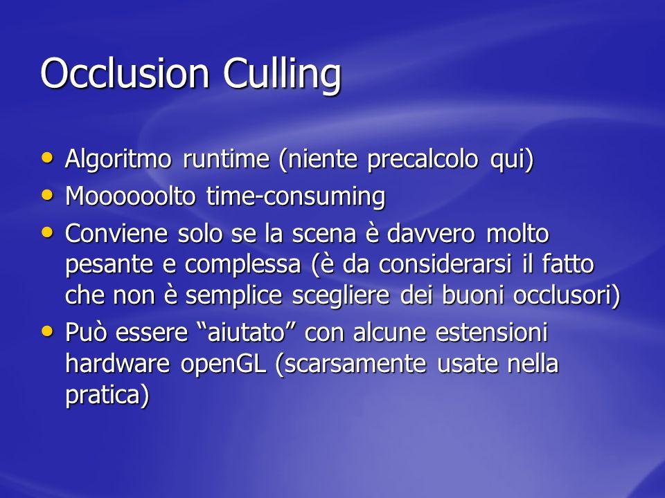 Occlusion Culling Algoritmo runtime (niente precalcolo qui)