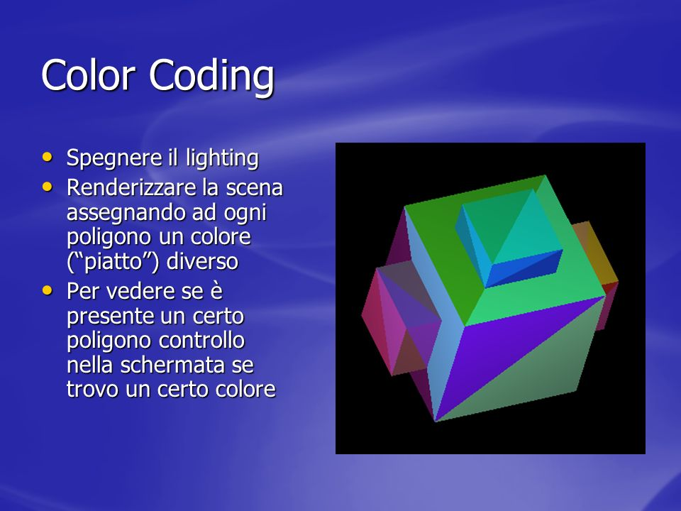 Color Coding Spegnere il lighting
