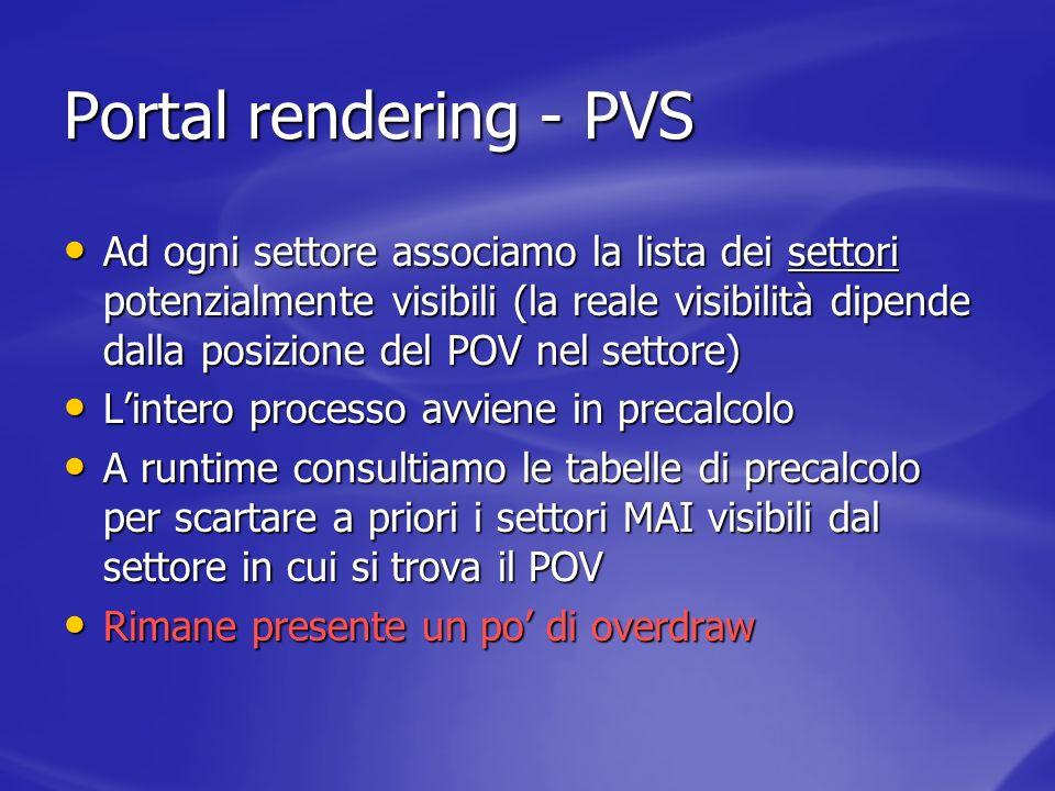 Portal rendering - PVS