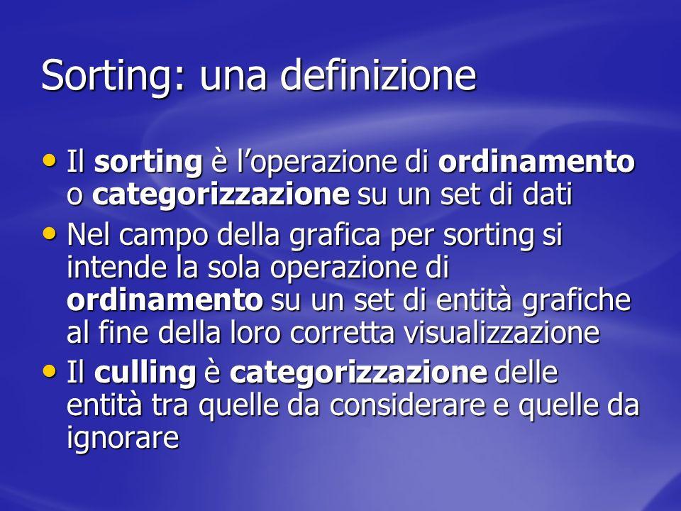 Sorting: una definizione