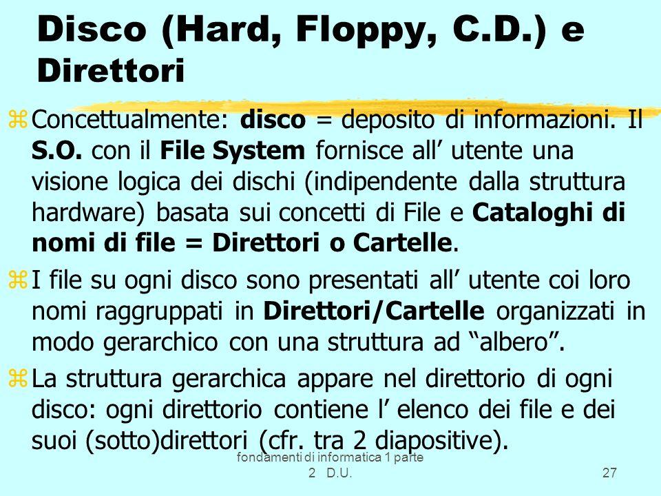 Disco (Hard, Floppy, C.D.) e Direttori