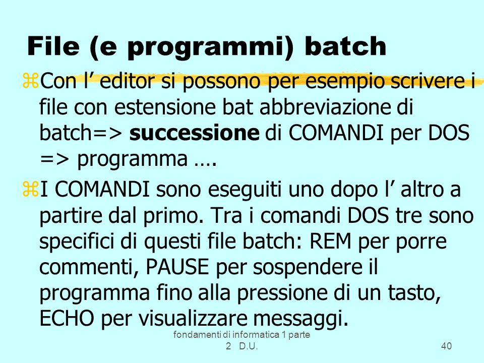 File (e programmi) batch