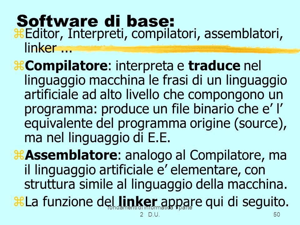 fondamenti di informatica 1 parte 2 D.U.