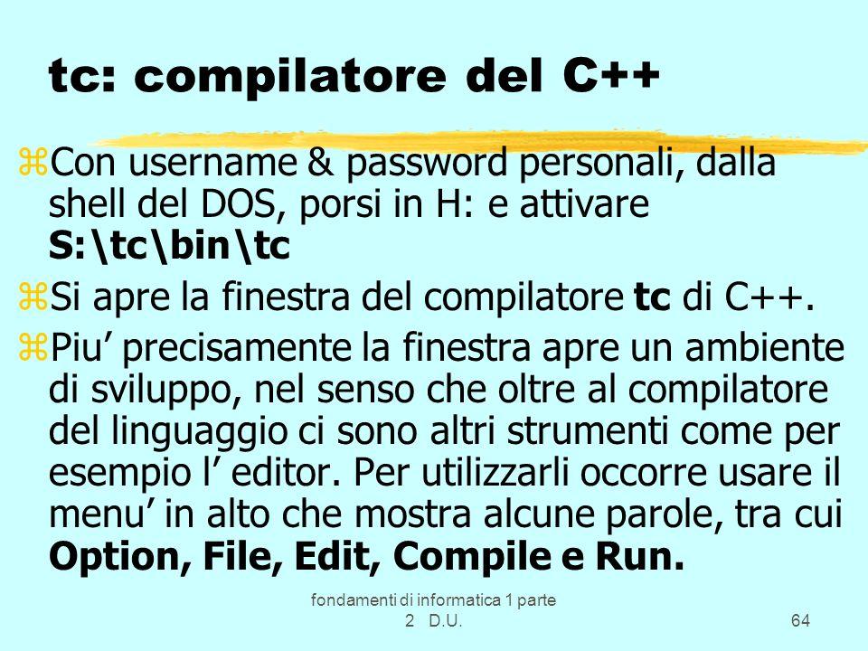 tc: compilatore del C++