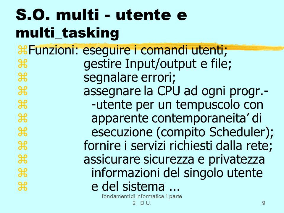 S.O. multi - utente e multi_tasking