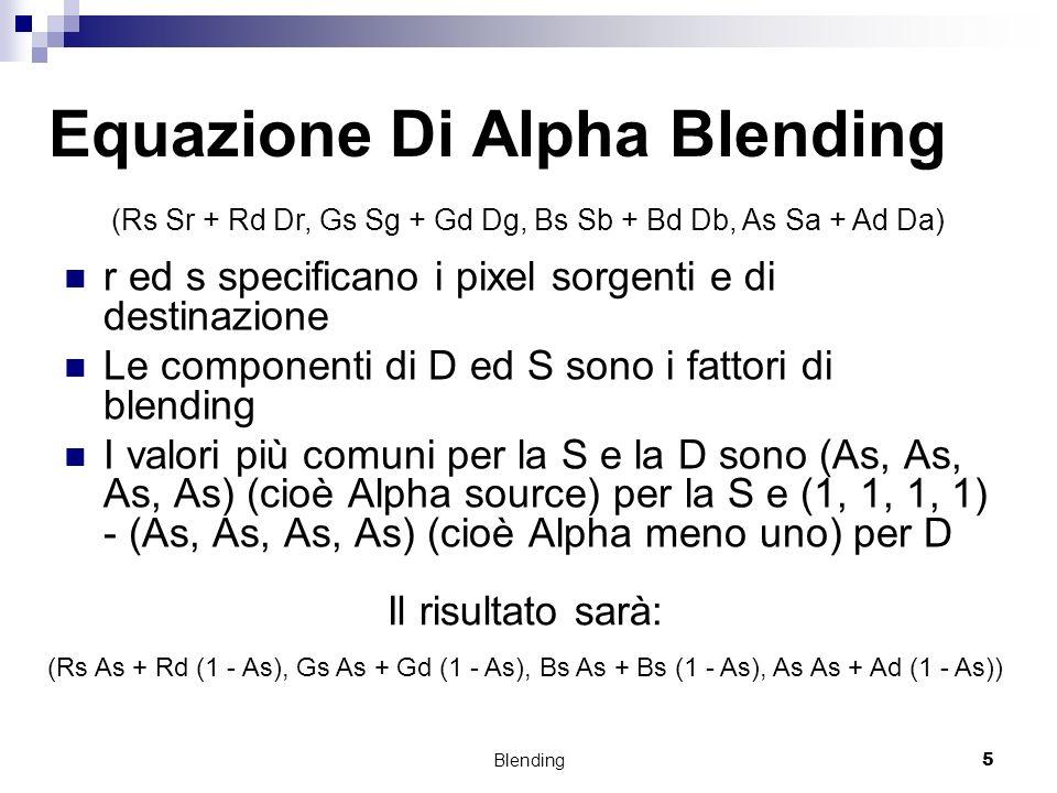 Equazione Di Alpha Blending