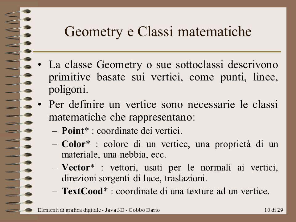Geometry e Classi matematiche