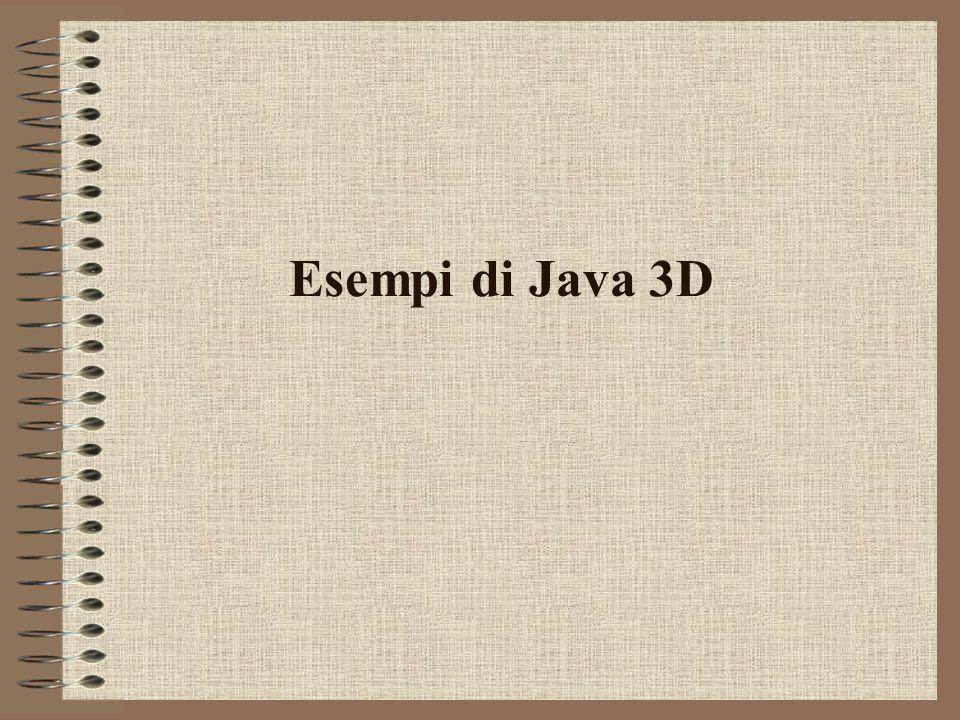 Esempi di Java 3D
