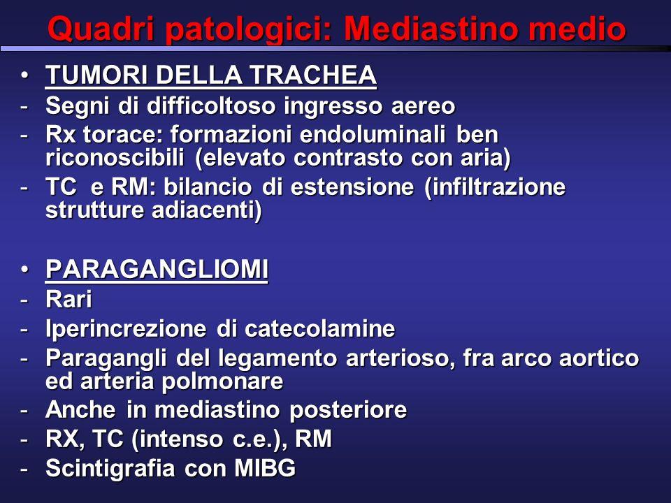 Quadri patologici: Mediastino medio